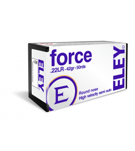 ELEY force recreational rimfire cartridge